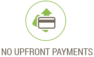 No upfront payments